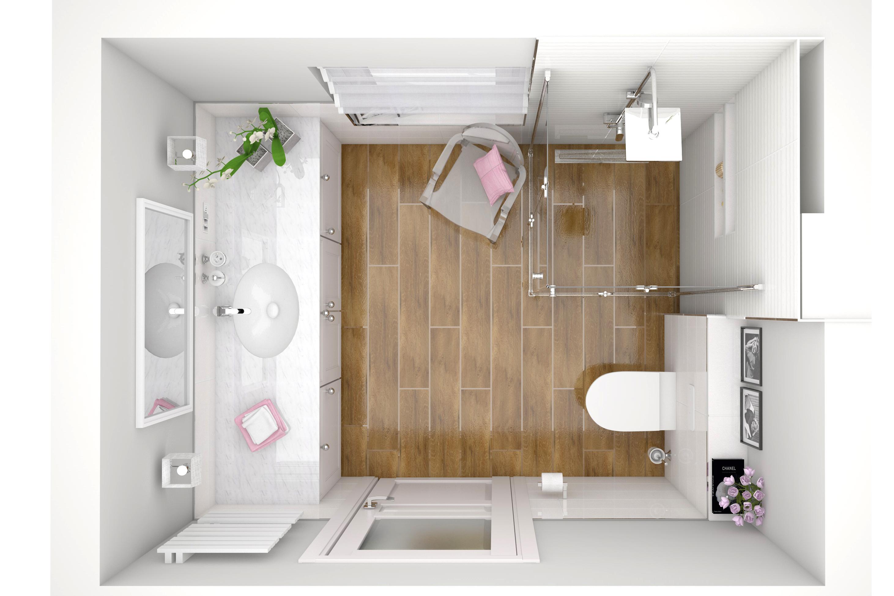 Kobieca łazienka W Gogolinie 65m2 Architekt Opole